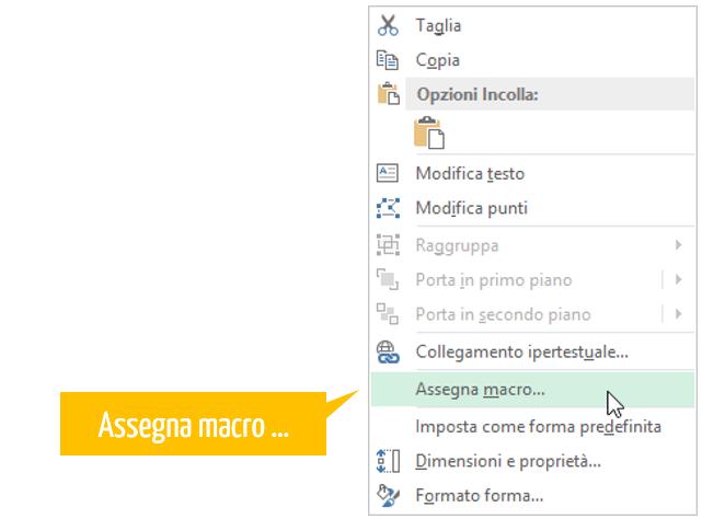 Macro Excel - assegnare una macro
