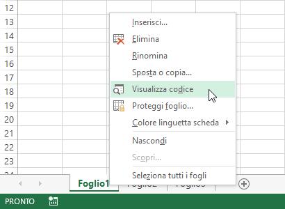 Macro Excel - visualizza codice