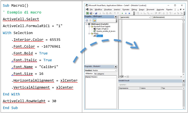 creare macro Excel | esempi macro Excel