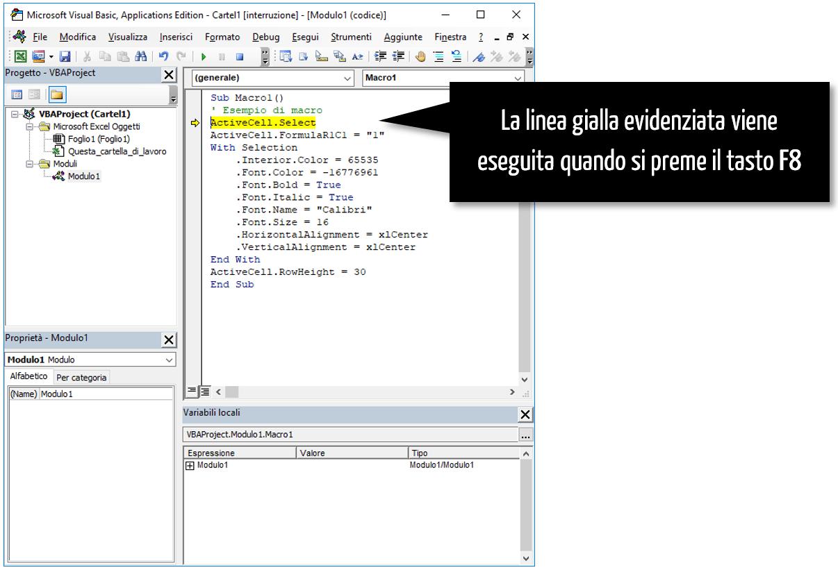 creare una macro Excel | VBA