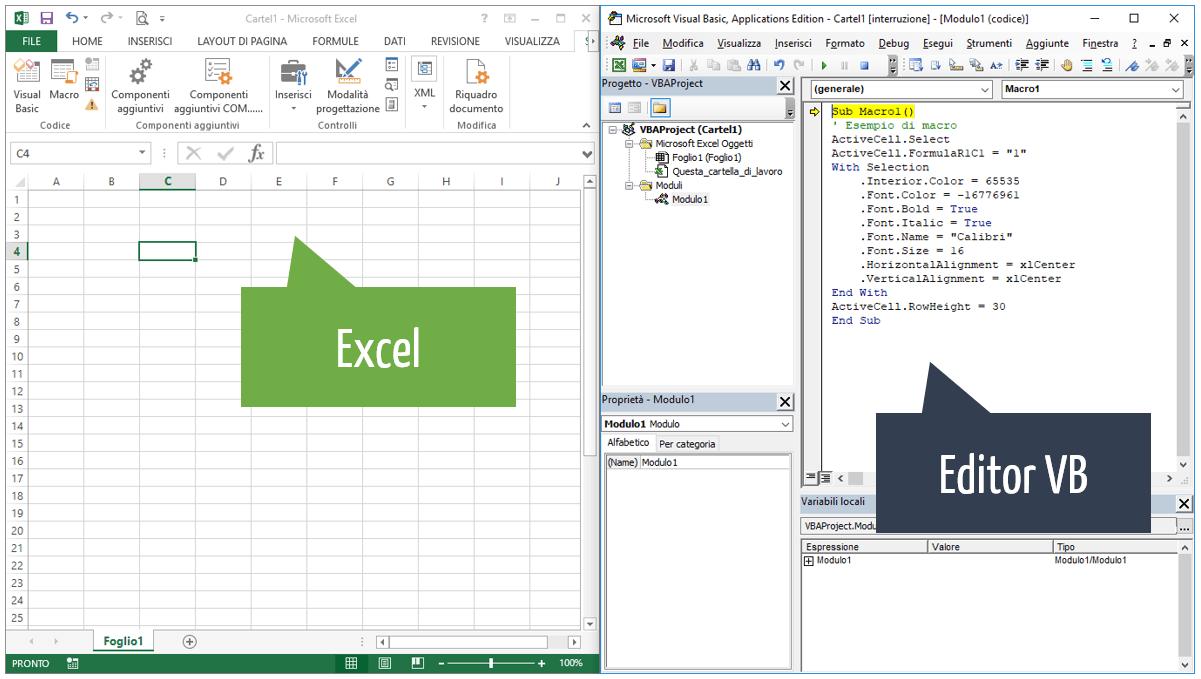 creare una macro in Excel