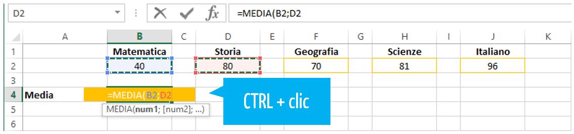 funzioni in Excel | media Excel | calcoli con Excel