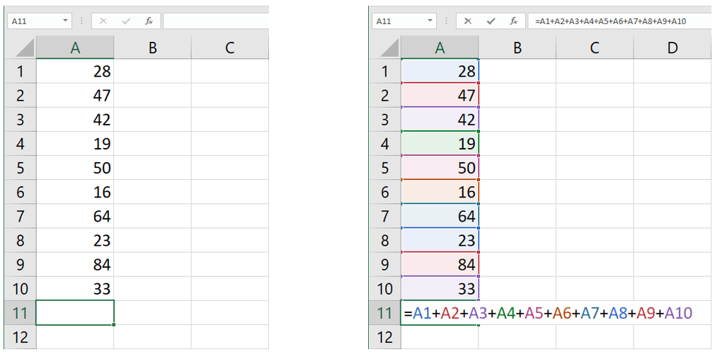 formula excel somma o funzione somma in Excel
