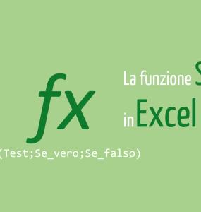Funzione SE Excel