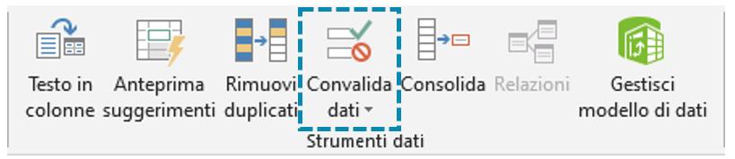 Intervallo dinamico Excel: convalida dati