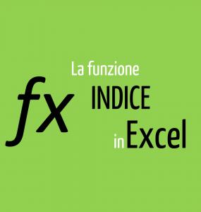 funzione indice Excel