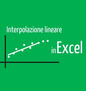 interpolazione lineare excel