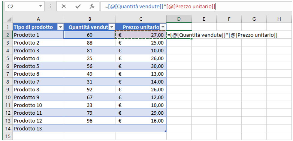 excel tabella dati | tabelle in excel