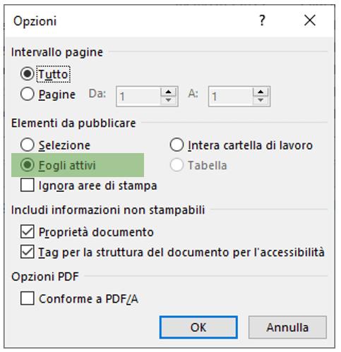 convertire da excel a pdf