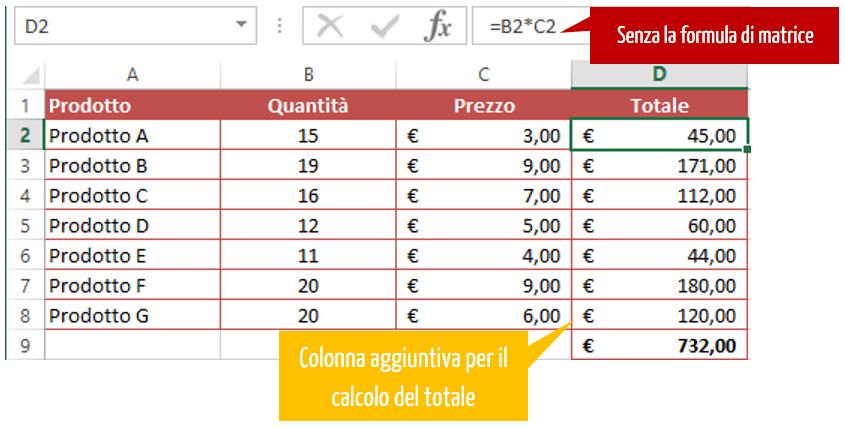Formule - le formule matrice Excel