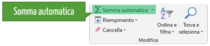 formule di excel | somma automatica excel