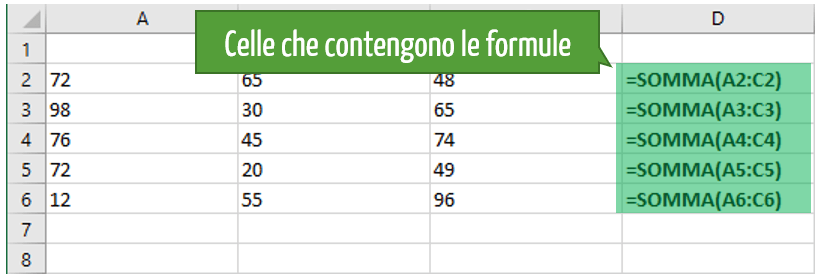 formule in excel | visualizzare celle con formule