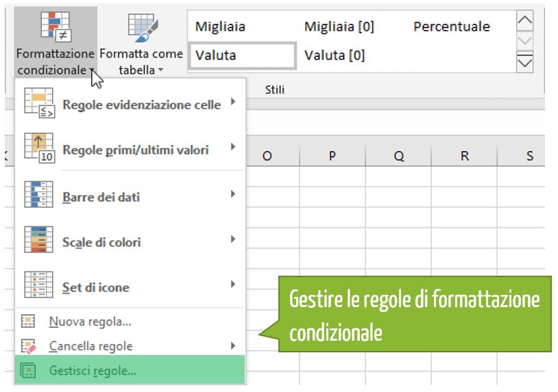 Come gestire regole di formattazione