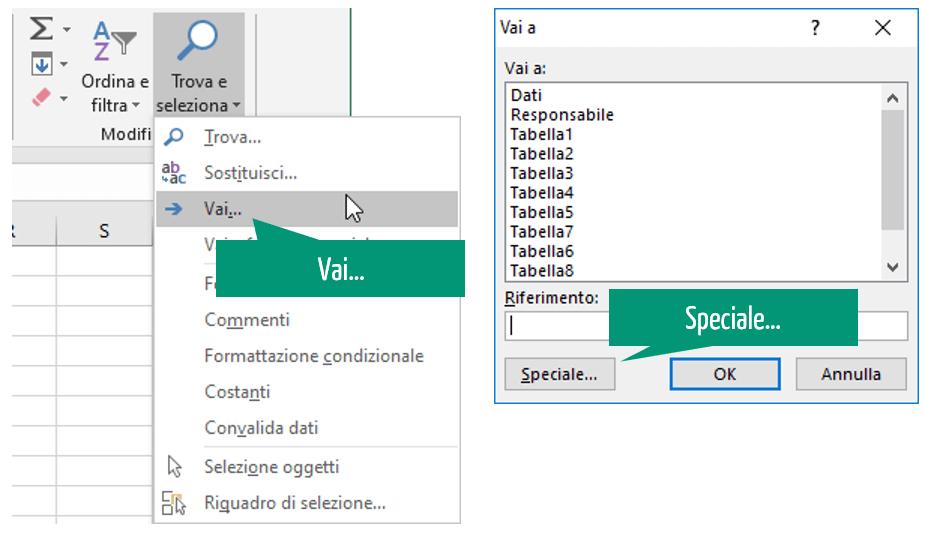 convalida dati excel - comando VAI
