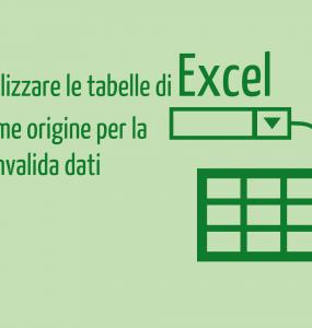 convalida dati excel   tabelle excel