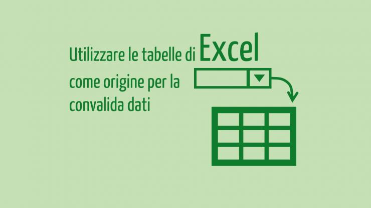 convalida dati excel | tabelle excel