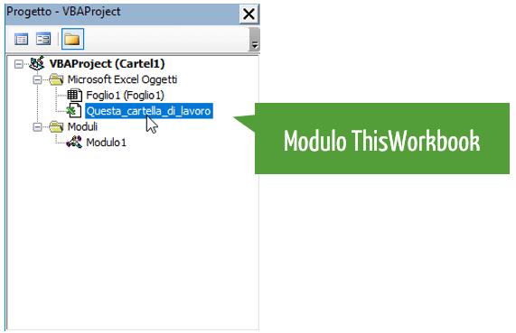 vba excel | modulo thisworkbook