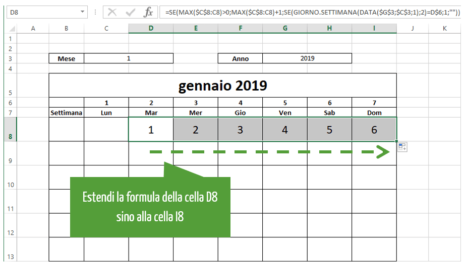 come fare calendario