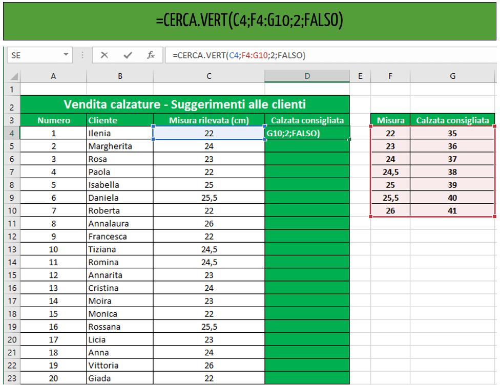 excel cerca vert | cerca verticale excel esempio