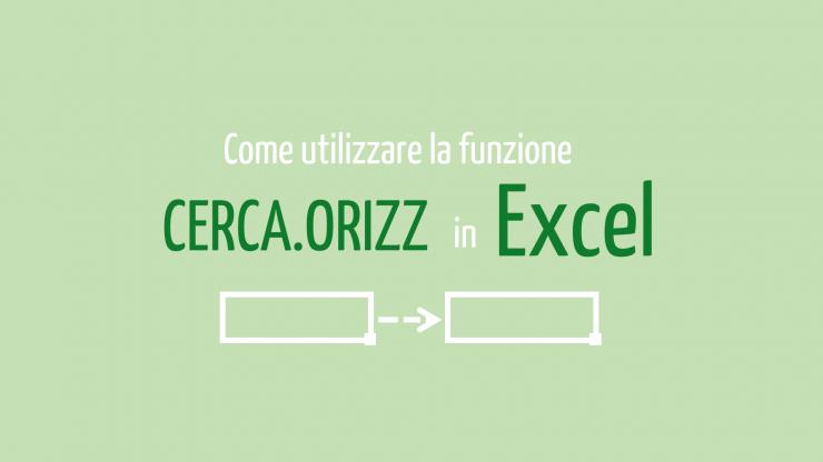 cerca orizzontale Excel