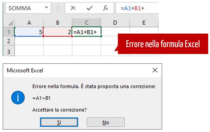 excel formula | errore nella formula excel
