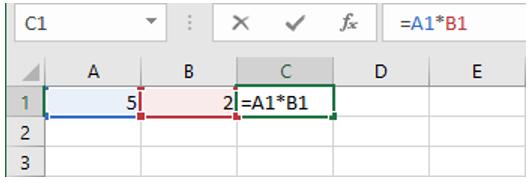 inserire formule Excel | formula moltiplicazione excel