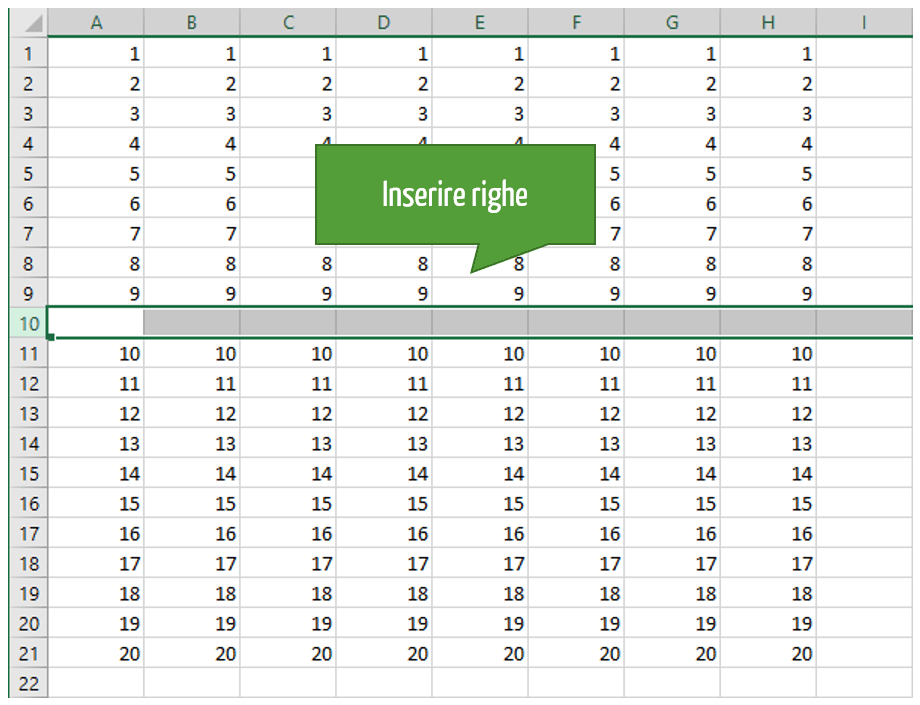 excel vba | inserire righe