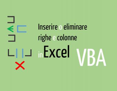 VBA Excel inserire eliminare righe colonne