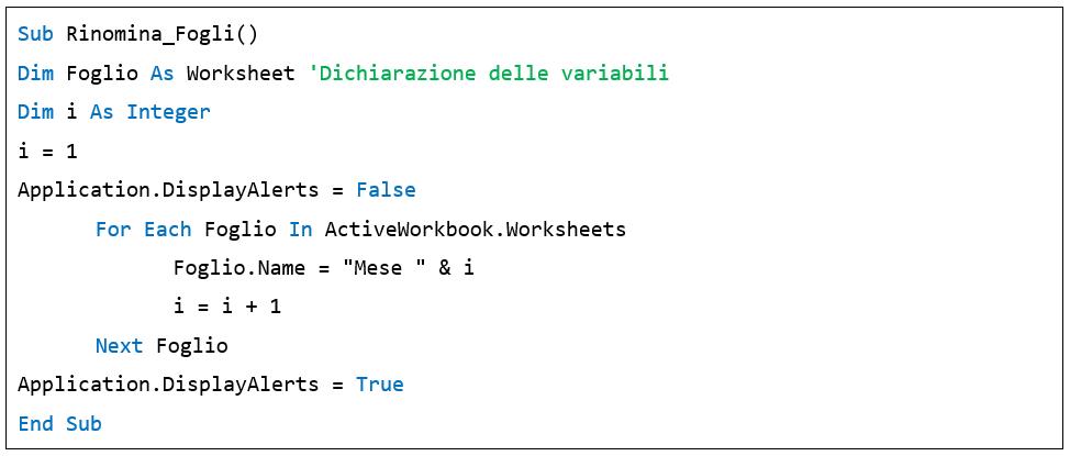 ciclo For Each - macro Excel vba