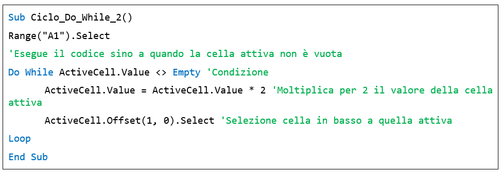 I cicli Do While nelle macro Excel - macro excel esempi
