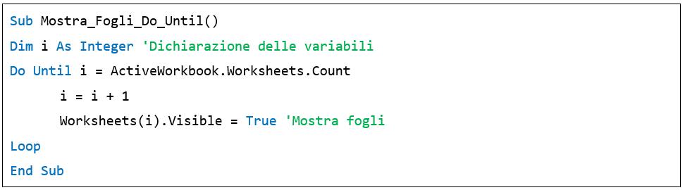Il ciclo Do Until nelle macro Excel