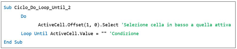 Il ciclo Do Loop Until - creare macro excel