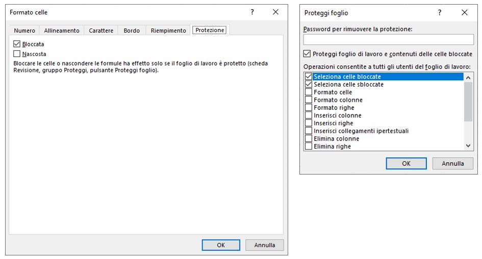 Bloccare celle Excel | Blocco celle Excel e nascondere formula Excel