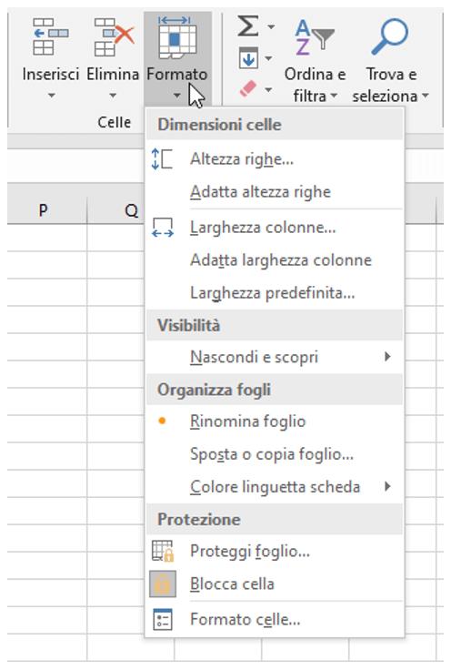 comando Blocca cella | Bloccare celle Excel