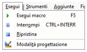 menu editor VB | Verificare il funzionamento della UserForm