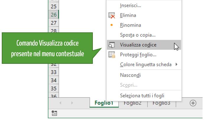 Aprire editor VB | Come creare una maschera inserimento dati Excel