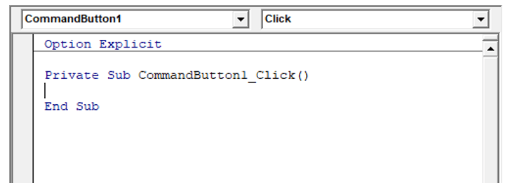 Codice VBA in Excel Form
