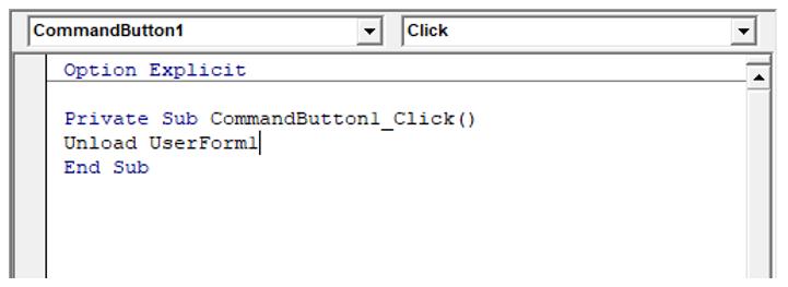 Codice VBA in UserForm Excel