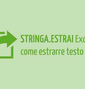 STRINGA ESTRAI Excel