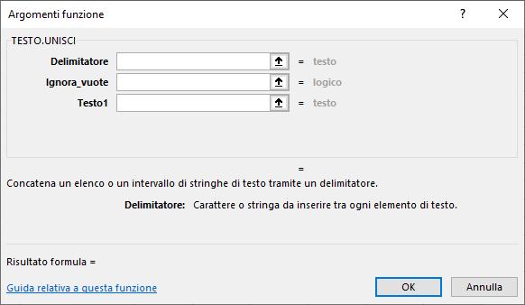 Funzioni su Excel | Funzione TESTO.UNISCI per unire il testo