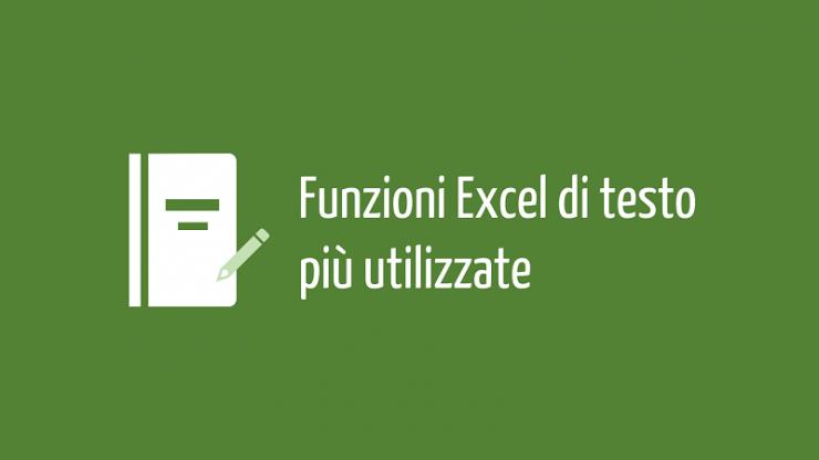 Funzioni Excel di testo più utilizzate