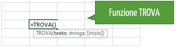 Trova Excel | funzione di testo | excel funzioni testo
