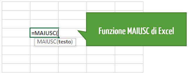 Maiuscole minuscole in Excel | minuscolo maiuscolo