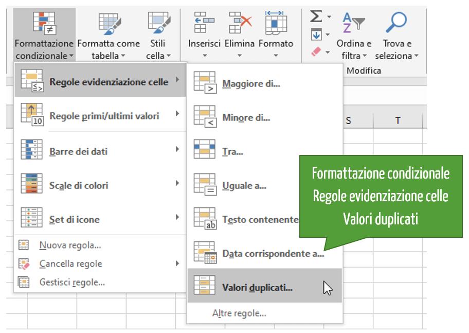 Data cleaning Excel | Evidenziare i duplicati Excel