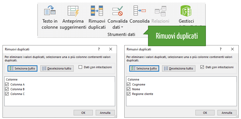 Data cleaning Excel | Rimuovere i duplicati in Excel