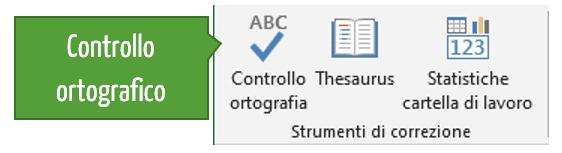 Effettuare il controllo ortografico in Excel