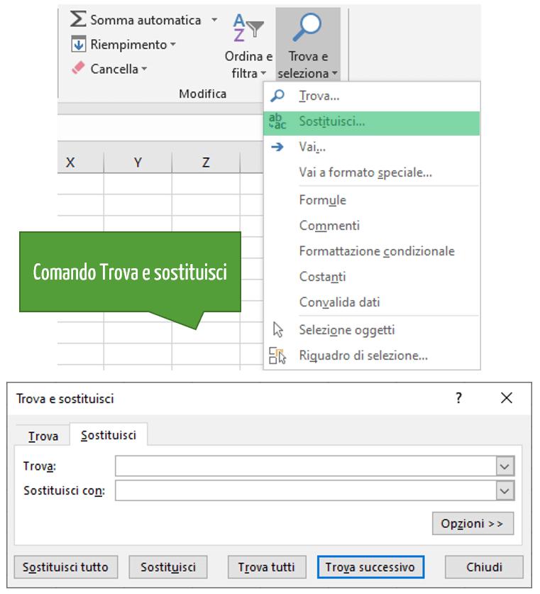 Utilizza il comando Trova e sostituisci per pulire i dati in Excel