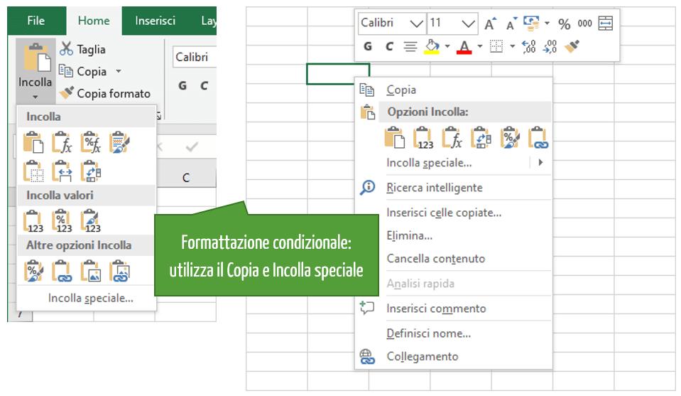 Formattazione condizionale: utilizza il Copia e Incolla speciale | Formattazione Excel