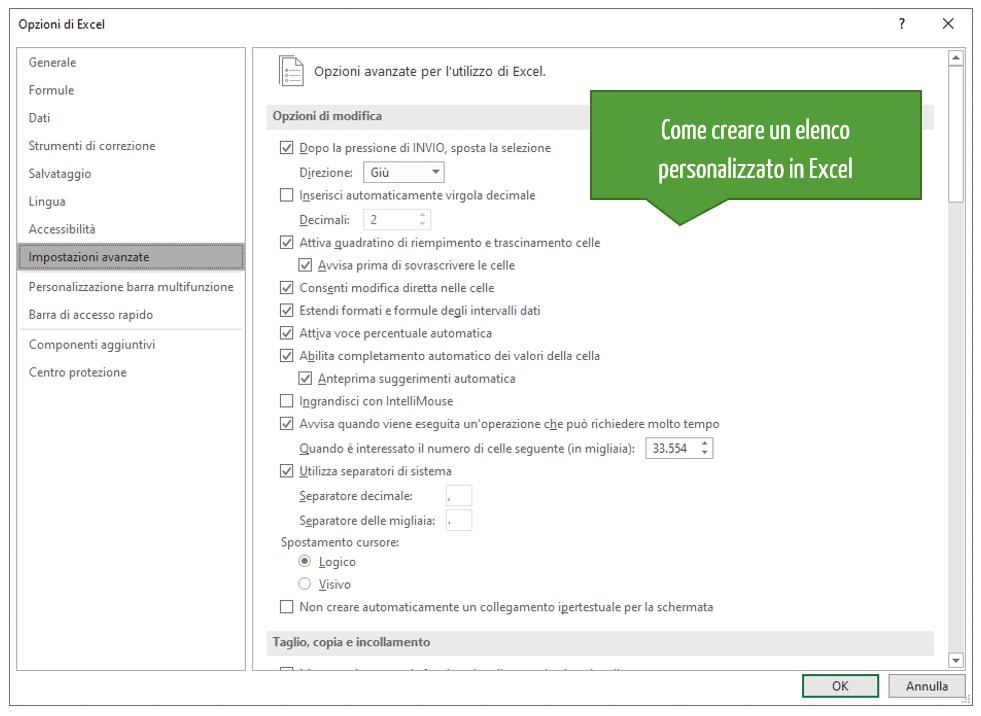Elenchi Excel personalizzati | Come creare un elenco personalizzato in Excel
