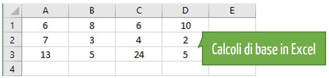 Guida pratica Excel | Imparare Excel | Calcoli di base